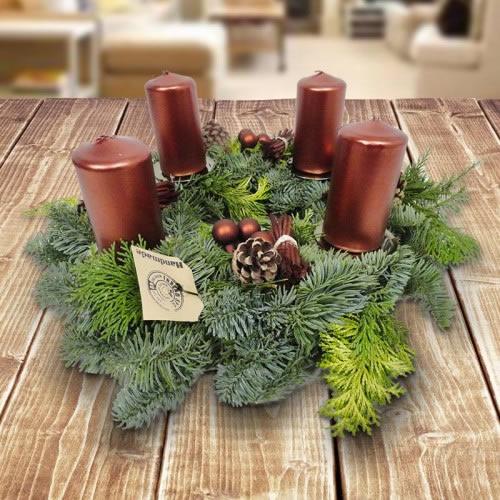 Adventskranz burgundischer winter for Adventskranz bestellen