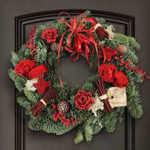 weihnachtskranz rot wunder. Black Bedroom Furniture Sets. Home Design Ideas